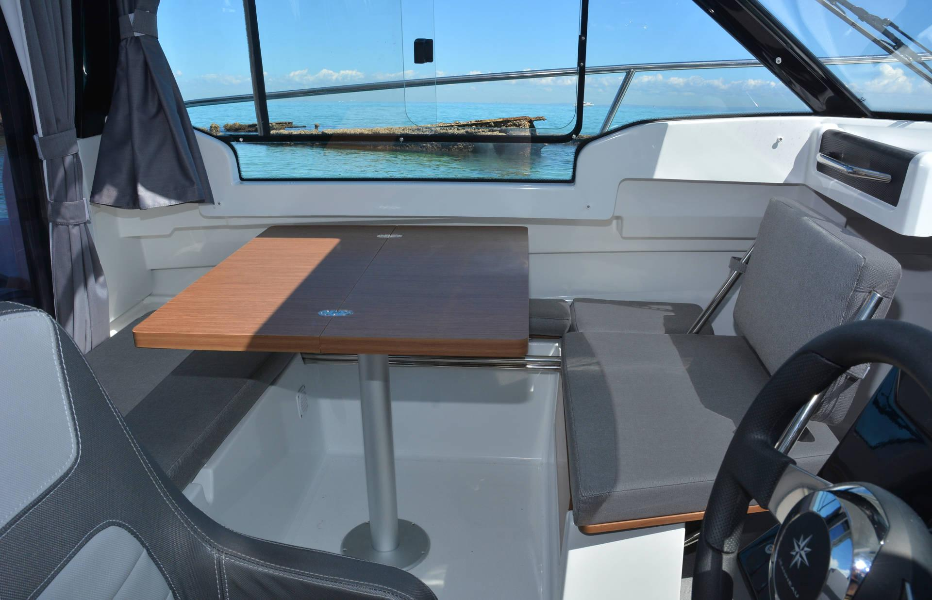 motorboat wooden table